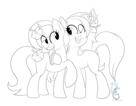 MLP Lineart Commission by Okeanos-Heart