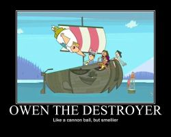 Total Drama Owen The Destroyer by AbominationOfTime