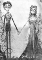 The Corpse Bride - Victor and Emily by Zafirandimayo
