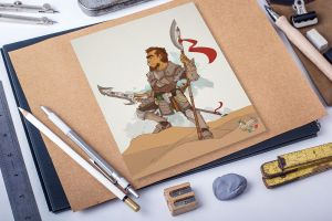 Warrior - only add color by NajborGraphics