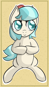 Coco Pommel wants to tell you something by DataPony