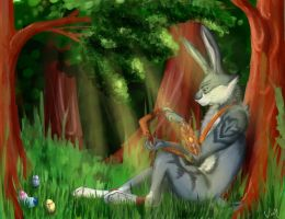 Easter Bunny by Umbrellawolf