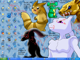 My crazy new desktop by PipeDreamNo20