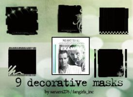 Decorative mask brushes, set 3 by Sanami276
