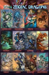The 2014 Zodiac Dragons by The-SixthLeafClover