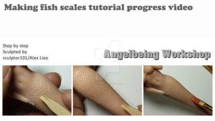 Making fish scales tutorial progress video by sculptor101