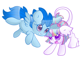 Foals of flight and magic by StarlightLore
