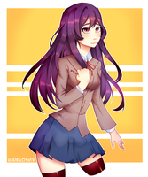 yuri`s a thot but i like drawing her hair (finish) by bangoshy