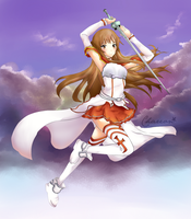 Asuna Yuuki: I Will Protect You by Chareon