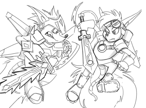 Rocket Knight! Now with Hair...again! by SkyPirateDash