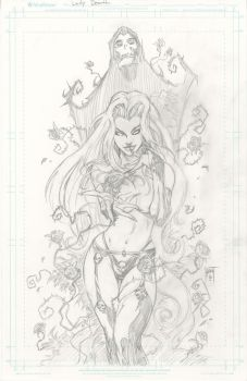 Lady Death: Devotions #1 Pencils by KenHunt
