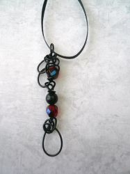 Ember Lace II -- Stealth Bubble Wand Necklace by Starlit-Sorceress