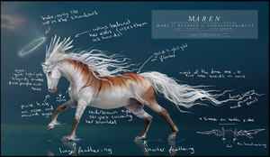 Maren - reference sheet (old) by Yewrezz