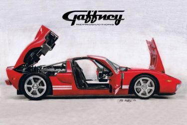 Colored Pencil Ford GT by theGaffney