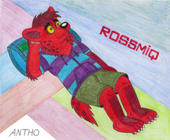 Rossmiq, a dreamy hyena. by AnthoFur