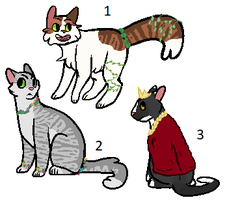Cat adoptables: Kings and Queens of the Woods by PoisonFate