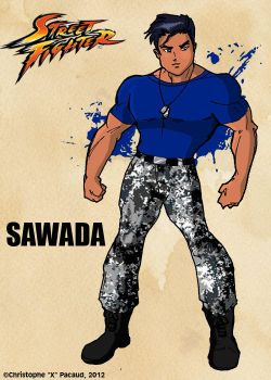 Street Fighter Art Card Series: Kenzo Sawada by Xtophe