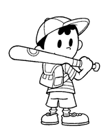 Ness lineart by FlintofMother3