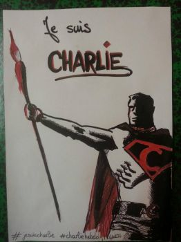 Superman is Charlie - Je suis Charlie by moltonel72