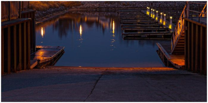 Boat Launch at Night by Snoopee63