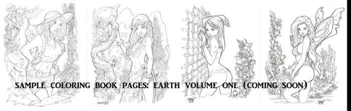 COLORING BOOK SAMPLE PAGES EARTH by rantz