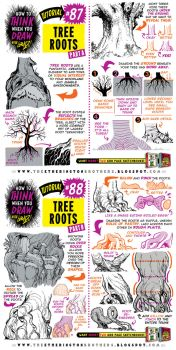 How to draw TREE ROOTS tutorial by STUDIOBLINKTWICE