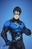 Nightwing (Earth-27) Rebirth colors by phil-cho