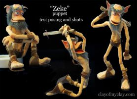 'Zeke' Character Shots by Clayofmyclay