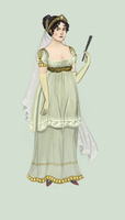 1807 evening dress by Tadarida