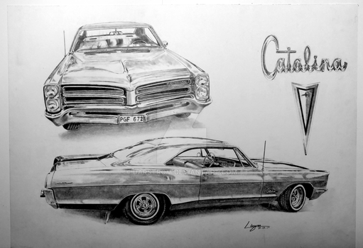 '66 Pontiac Catalina Drawing by Darstrom