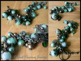 Amazonite Charm Bracelet by blackcurrantjewelry