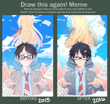 Draw this Again - Your Lie in April by BottleWonderland