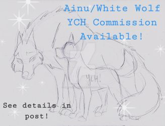 Balto-Ainu/White Wolf YCH by Stray-Sketches