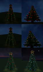 Minecraft Christmas Trees Schematics by Starfighter-Suicune