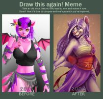 Improvement meme by DrawWithLaura
