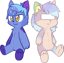 Digi and Luna plushes COM by Alli-RZStar