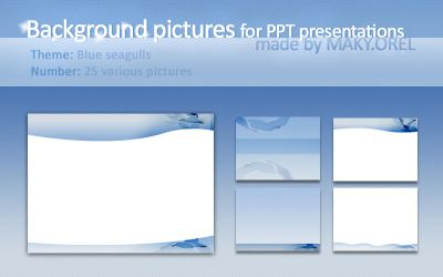 PPT BACKGROUNDS: Blue seagulls by MAKY-OREL