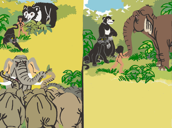 Trouble in the Jungle(Redrawn) 6 by tcr11050