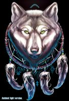 Wolf Dream catcher image... ambient light version by BlackHawk45LC