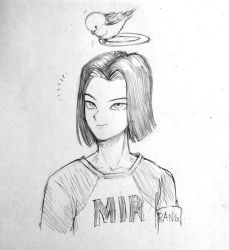 Dragon ball - Android 17 by papersmell