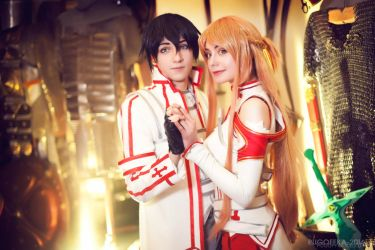 SAO - Asuna and Kirito by AmethystPrince