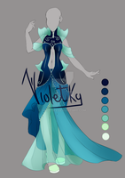 :: Adoptable Outfit: Ocean Queen AUCTION CLOSED :: by VioletKy
