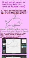 Tutorial for Line Art in Medibang Paint by crochetamommy