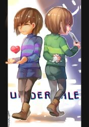 Undertale- Frisk and Chara by christon-clivef