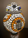 BB8 Stained Glass Lamp by mclanesmemories