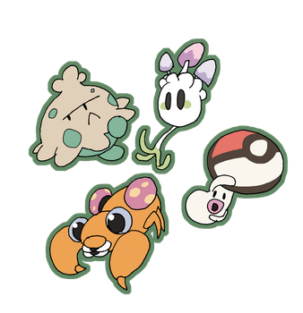 Mushroom Pokemon by that-one-guy-again
