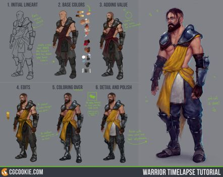 Warrior Timelapse Tutorial Step by Step by CGCookie