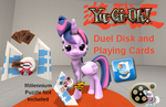 (DL) Yu-Gi-Oh! Duel Disk and Playing Cards by Out-Buck-Pony