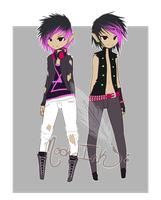 Punk twins [CLOSED] by MochaInk