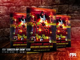 Gangsta Rap Show Flyer Template by pawlowskiart